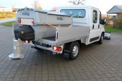 winterdienstfahrzeug fiat ducato Schneepflug Streusystem