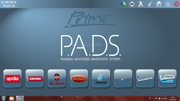 P.A.D.S. Piaggio Advanced Diagnostic System